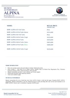 bmw-alpina Price List 6-7-2018 Page 1
