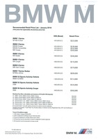bmw-m-series Price List 1-18-2018 Page 1