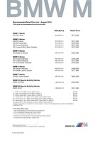 bmw-m-series Price List 8-8-2018 Page 1