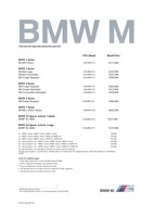 bmw-m-series Price List 11-10-2018 Page 1