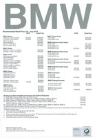 bmw Price List 7-23-2015 Page 1
