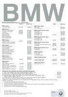 bmw Price List 8-20-2015 Page 1