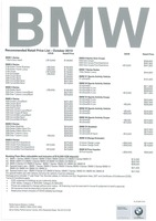 bmw Price List 10-2-2015 Page 1