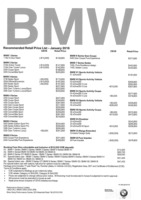 bmw Price List 1-22-2016 Page 1
