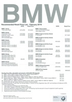 bmw Price List 2-6-2016 Page 1