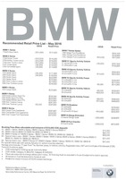 bmw Price List 5-30-2016 Page 1