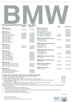 bmw Price List 7-11-2016 Page 1