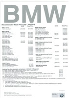 bmw Price List 7-26-2016 Page 1