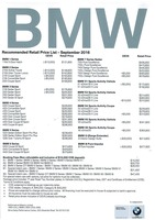 bmw Price List 9-22-2016 Page 1