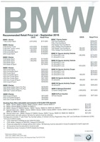 bmw Price List 9-28-2016 Page 1