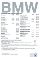bmw Price List 10-20-2016 Page 1