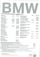 bmw Price List 11-24-2016 Page 1