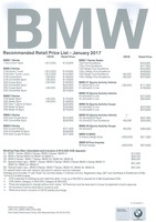 bmw Price List 1-19-2017 Page 1
