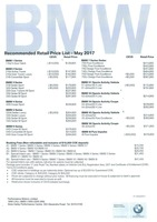 bmw Price List 5-25-2017 Page 1