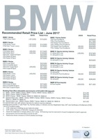 bmw Price List 6-21-2017 Page 1