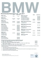 bmw Price List 7-19-2017 Page 1