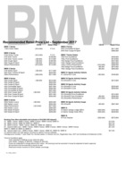 bmw Price List 9-26-2017 Page 1