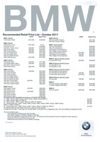 bmw Price List 10-5-2017 Page 1