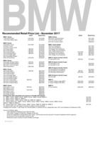 bmw Price List 11-13-2017 Page 1