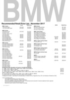 bmw Price List 11-24-2017 Page 1