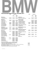bmw Price List 12-7-2017 Page 1