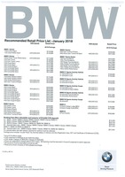 bmw Price List 1-18-2018 Page 1