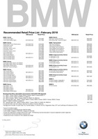 bmw Price List 2-21-2018 Page 1
