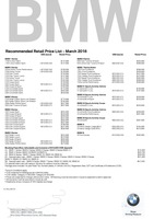 bmw Price List 3-10-2018 Page 1