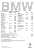 bmw Price List 4-19-2018 Page 1