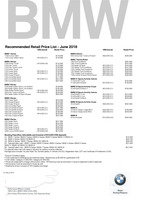 bmw Price List 6-6-2018 Page 1