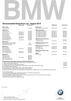 bmw Price List 8-8-2018 Page 1