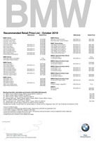 bmw Price List 10-5-2018 Page 1