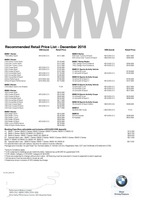 bmw Price List 12-7-2018 Page 1