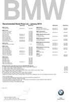 bmw Price List 1-10-2019 Page 1