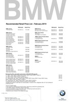 bmw Price List 2-11-2019 Page 1
