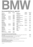 bmw Price List 8-21-2019 Page 1