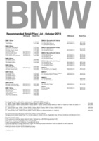 bmw Price List 10-10-2019 Page 1