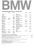 bmw Price List 11-21-2019 Page 1