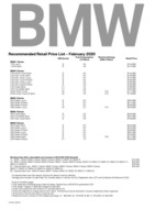 bmw Price List 2-6-2020 Page 1