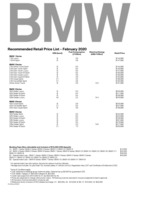 bmw Price List 2-20-2020 Page 1