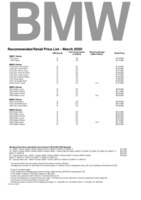 bmw Price List 3-23-2020 Page 1