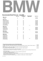 bmw Price List 7-13-2020 Page 1