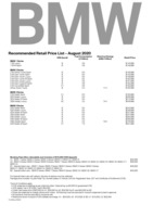 bmw Price List 8-7-2020 Page 1