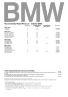 bmw Price List 10-23-2020 Page 1