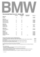 bmw Price List 1-21-2021 Page 1