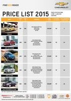 chevrolet Price List 5-21-2015 Page 1