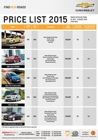 chevrolet Price List 7-23-2015 Page 1