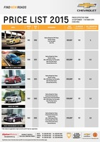 chevrolet Price List 9-24-2015 Page 1