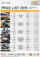 chevrolet Price List 11-18-2015 Page 1