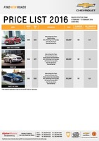 chevrolet Price List 2-4-2016 Page 1